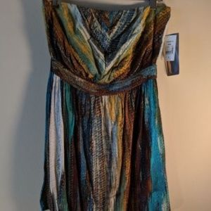 NWT Ruby Rox womens sundress multicolored stripes
